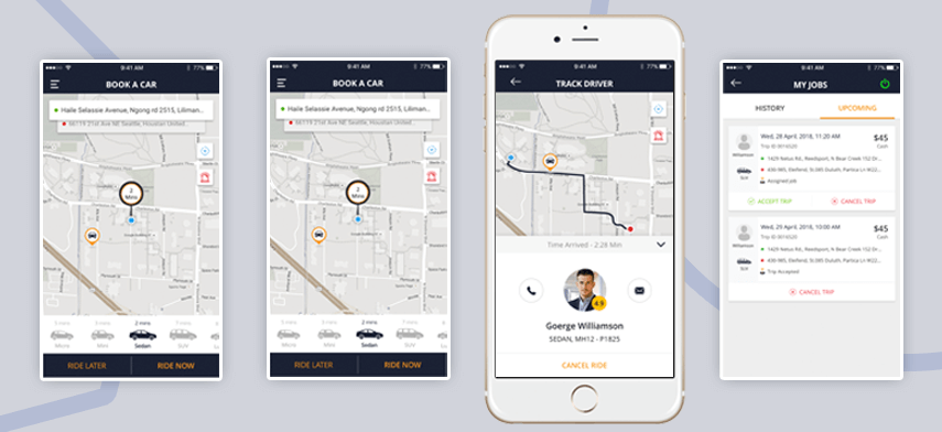 How A Taxi Booking App Works?