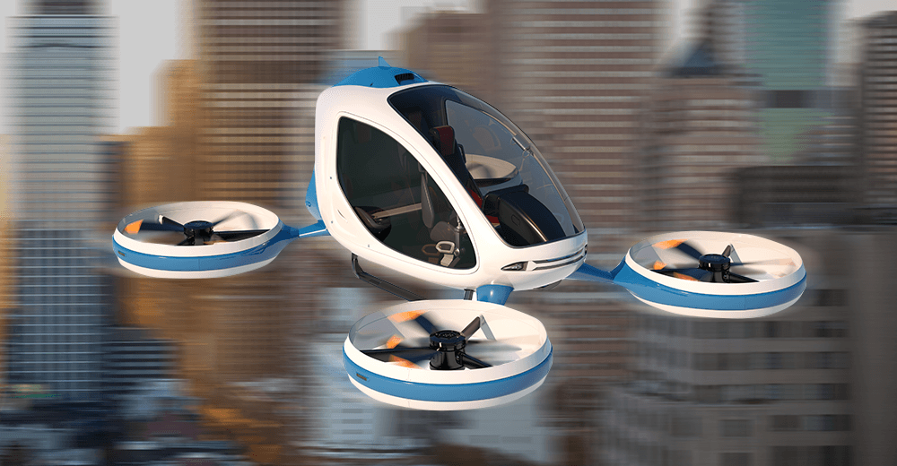 Bringing a Revolution in Transportation Industry with Flying Taxis